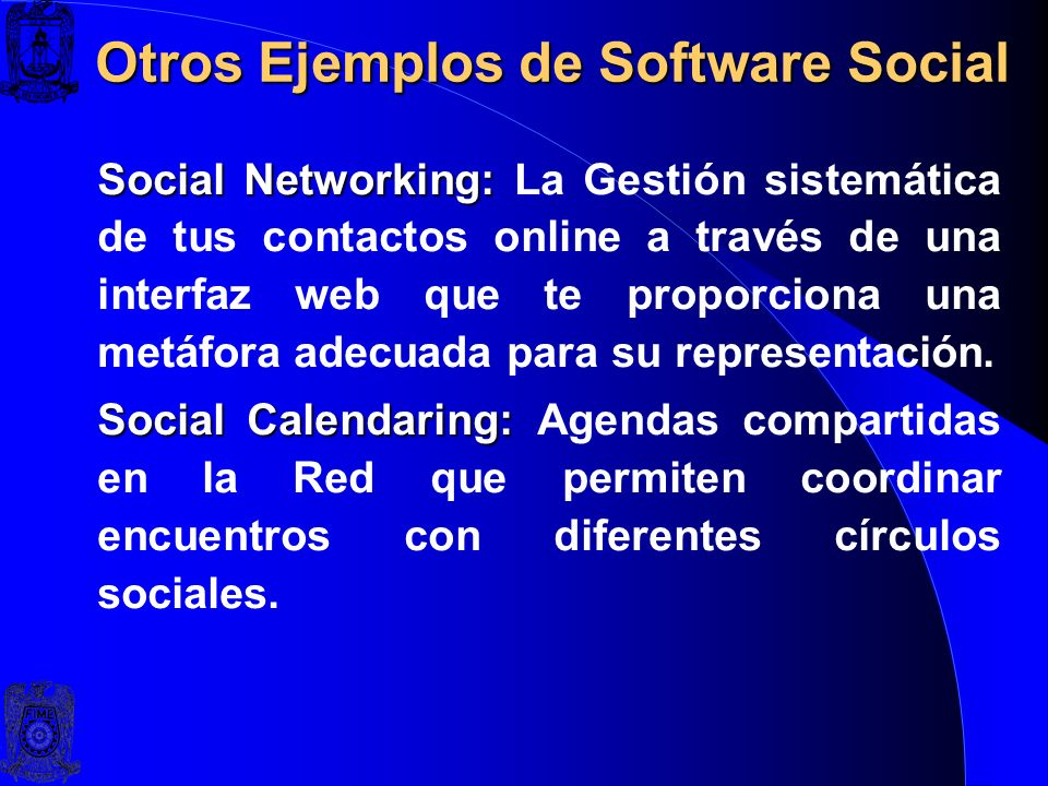 Otros Ejemplos de Software Social