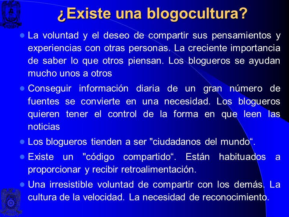 ¿Existe una blogocultura