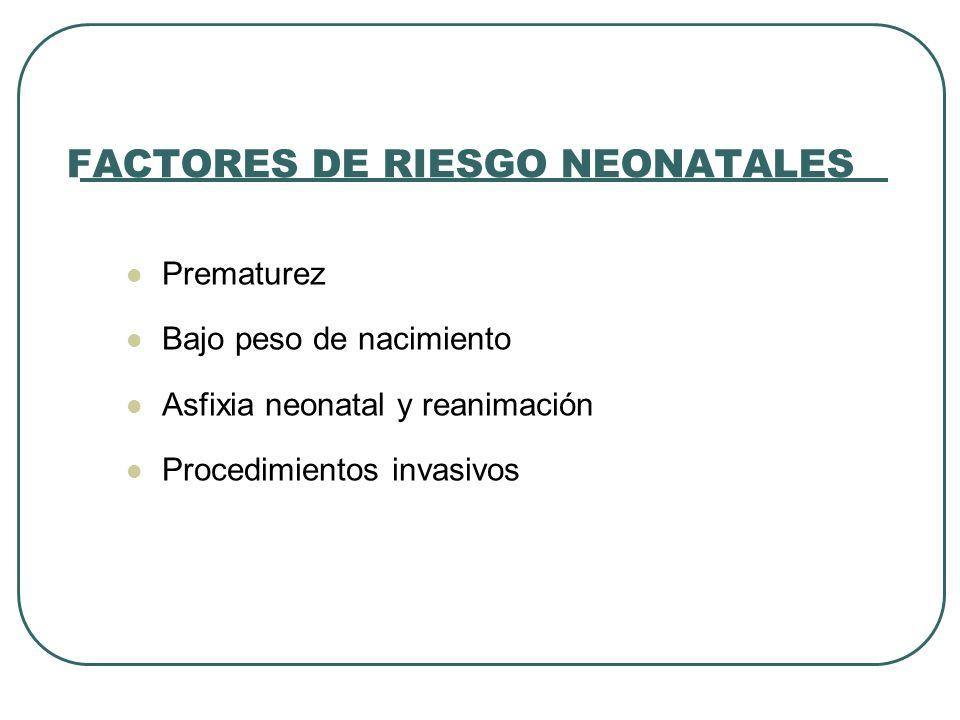 FACTORES DE RIESGO NEONATALES