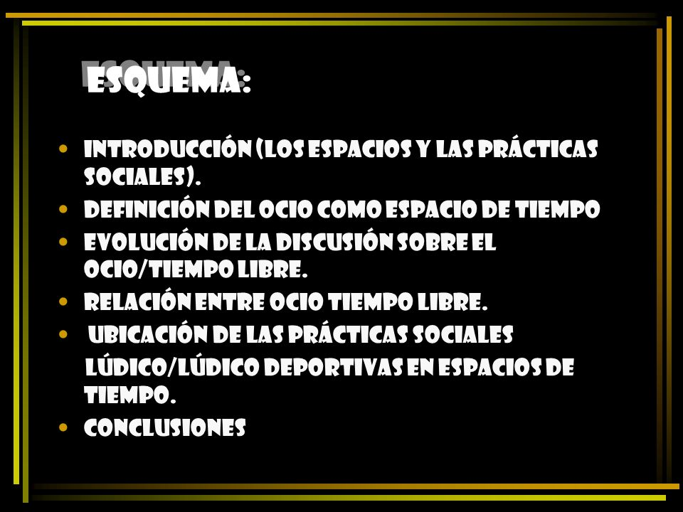 ESQUEMA: Introducción (los espacios y las prácticas sociales).
