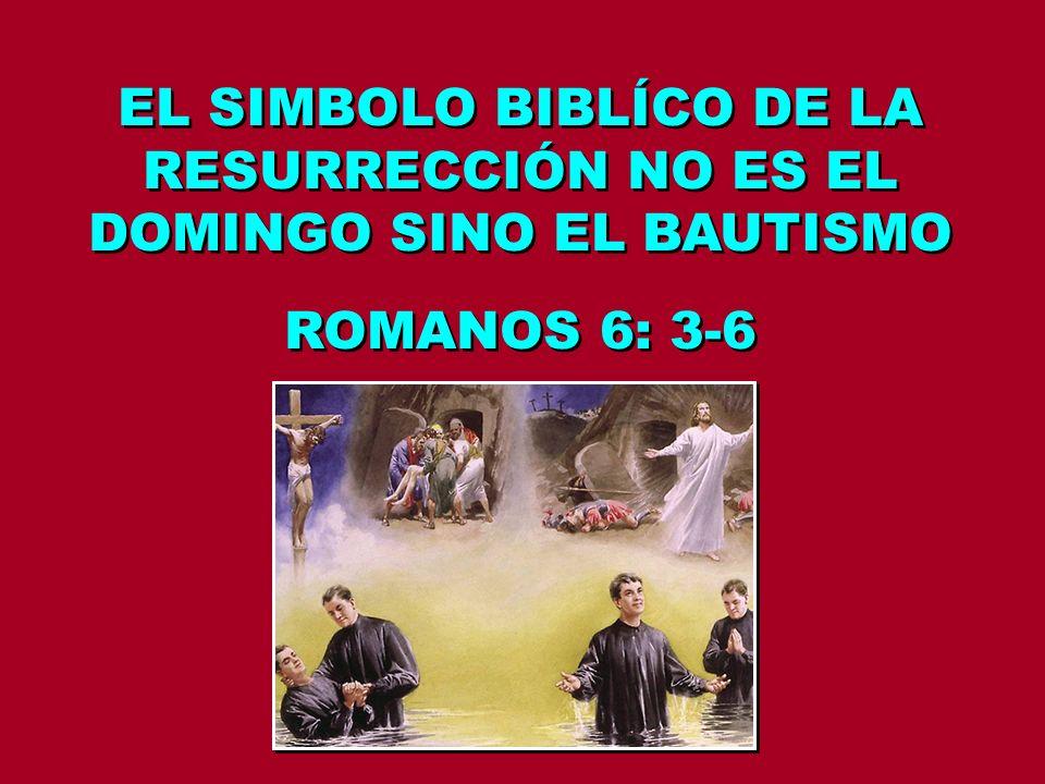 EL SIMBOLO BIBLÍCO DE LA RESURRECCIÓN NO ES EL DOMINGO SINO EL BAUTISMO