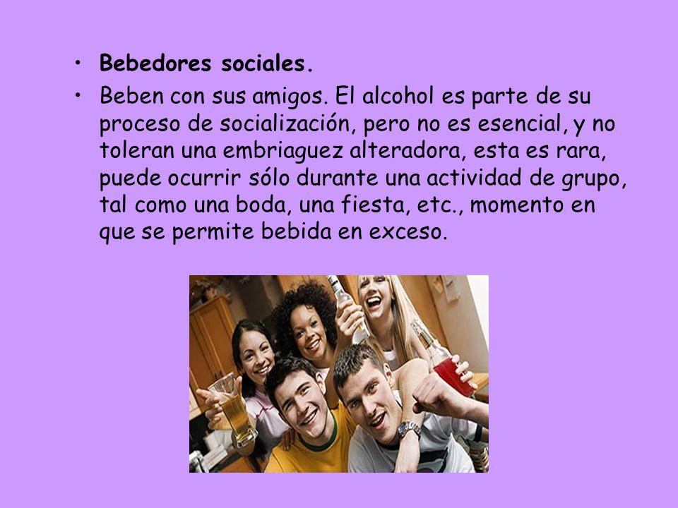 Bebedores sociales.