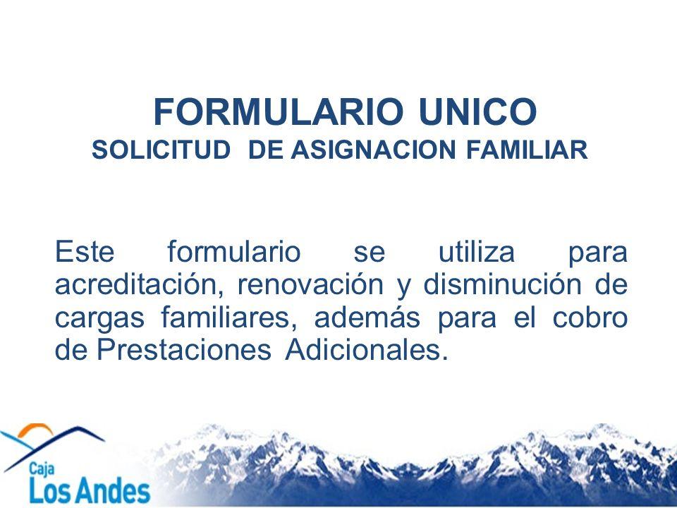 SOLICITUD DE ASIGNACION FAMILIAR