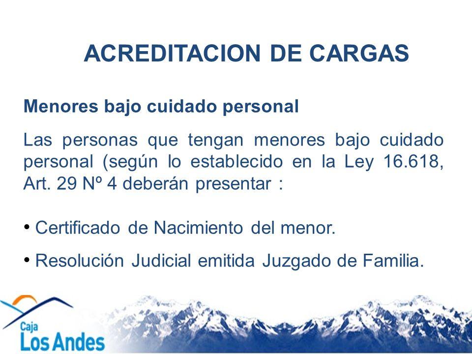 ACREDITACION DE CARGAS