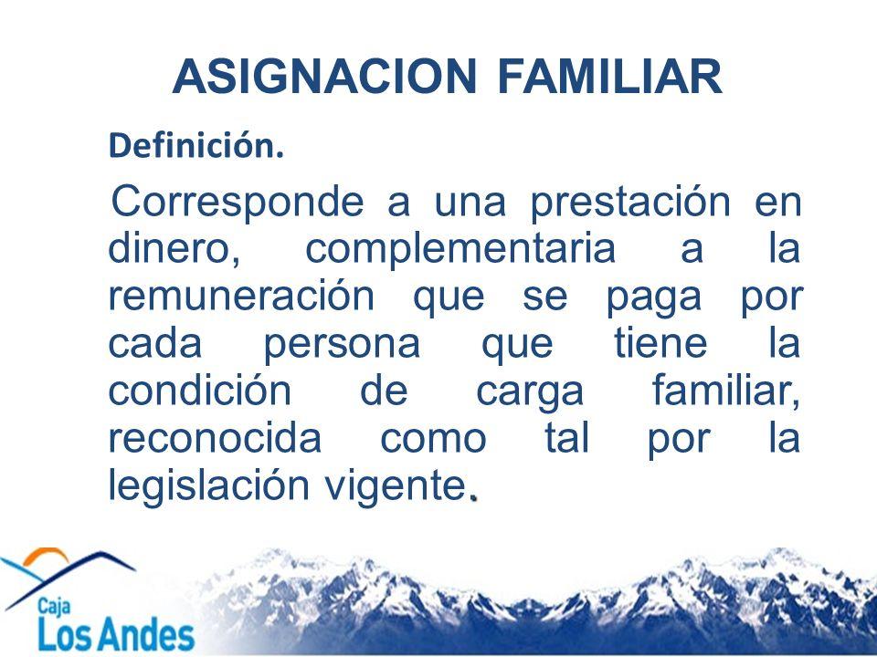 ASIGNACION FAMILIAR Definición.