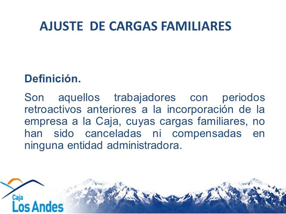 AJUSTE DE CARGAS FAMILIARES