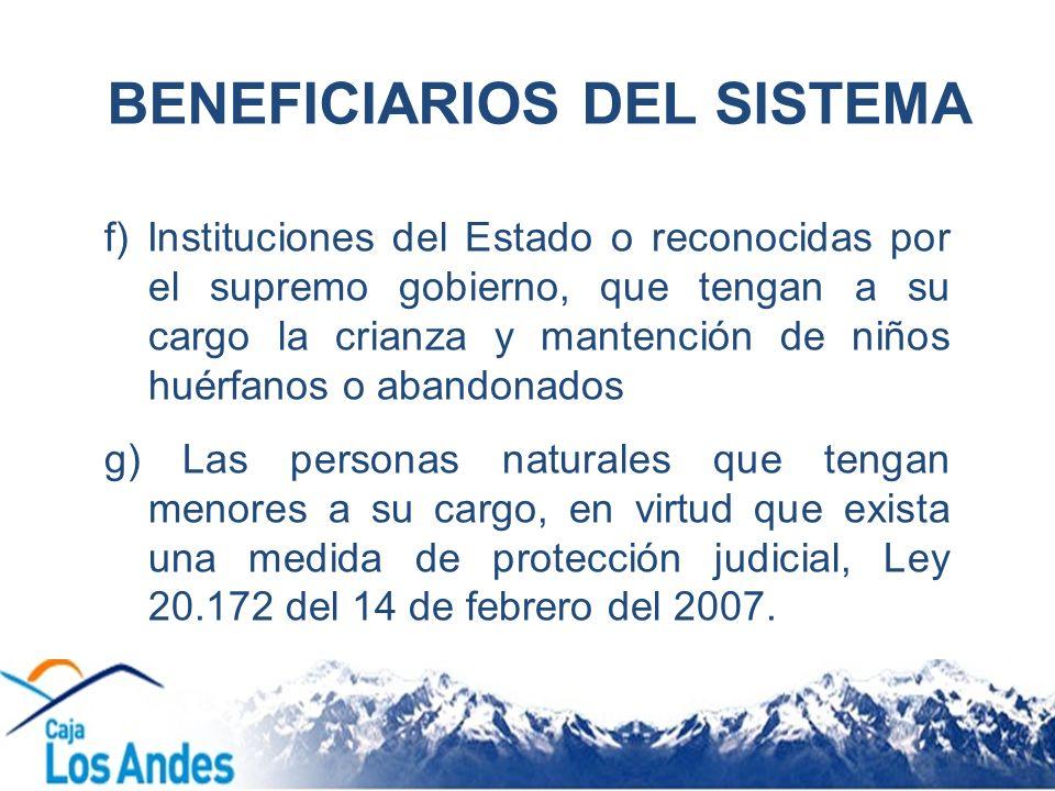 BENEFICIARIOS DEL SISTEMA