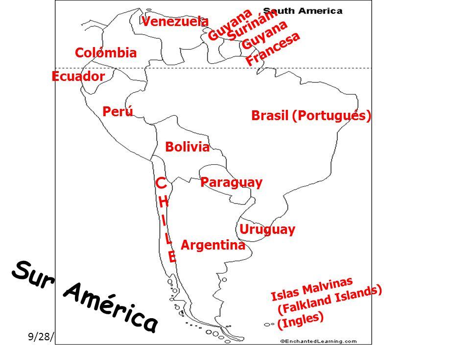 SUR AMÉRICA Sur América Países C H I L E Guyana Surinám Venezuela