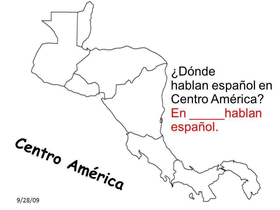 Centro América ¿Dónde hablan español en Centro América