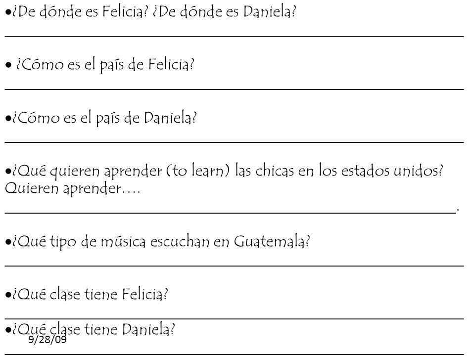 ¿Cómo es el país de Felicia