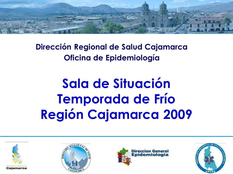 Sala de Situación Temporada de Frío Región Cajamarca 2009