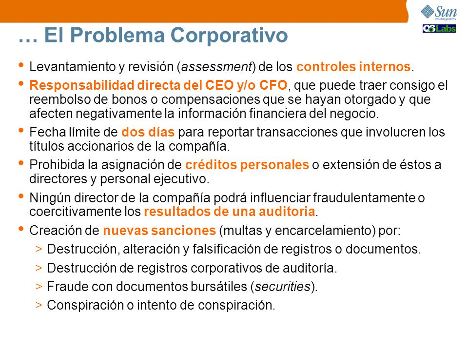 … El Problema Corporativo