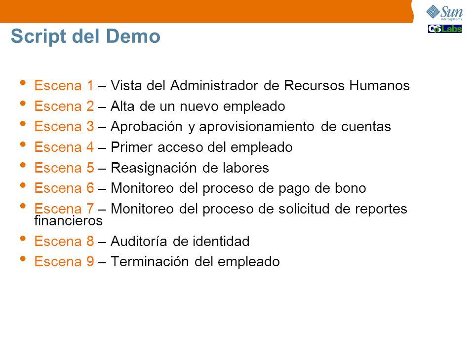 Script del Demo Escena 1 – Vista del Administrador de Recursos Humanos