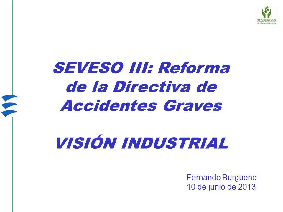 SEVESO III: Reforma de la Directiva de Accidentes Graves