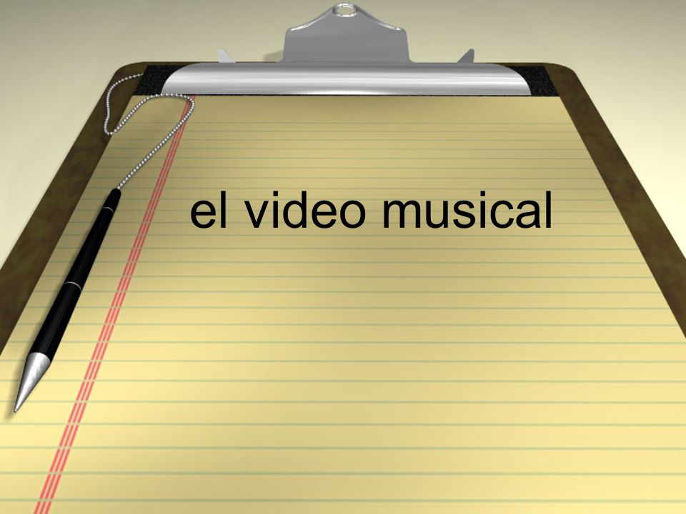 el video musical