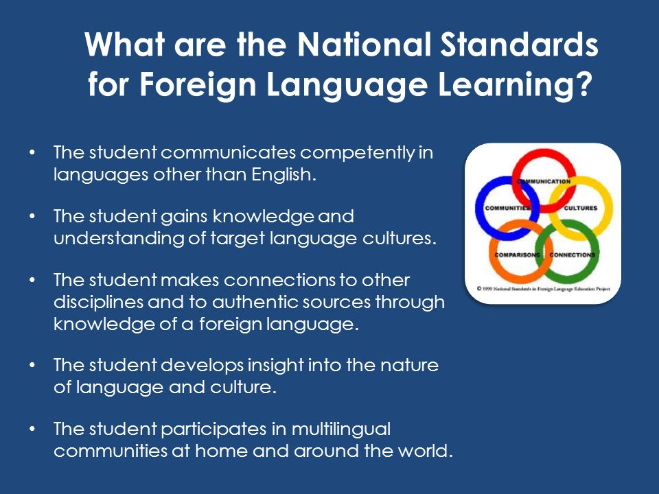 What are the National Standards for Foreign Language Learning