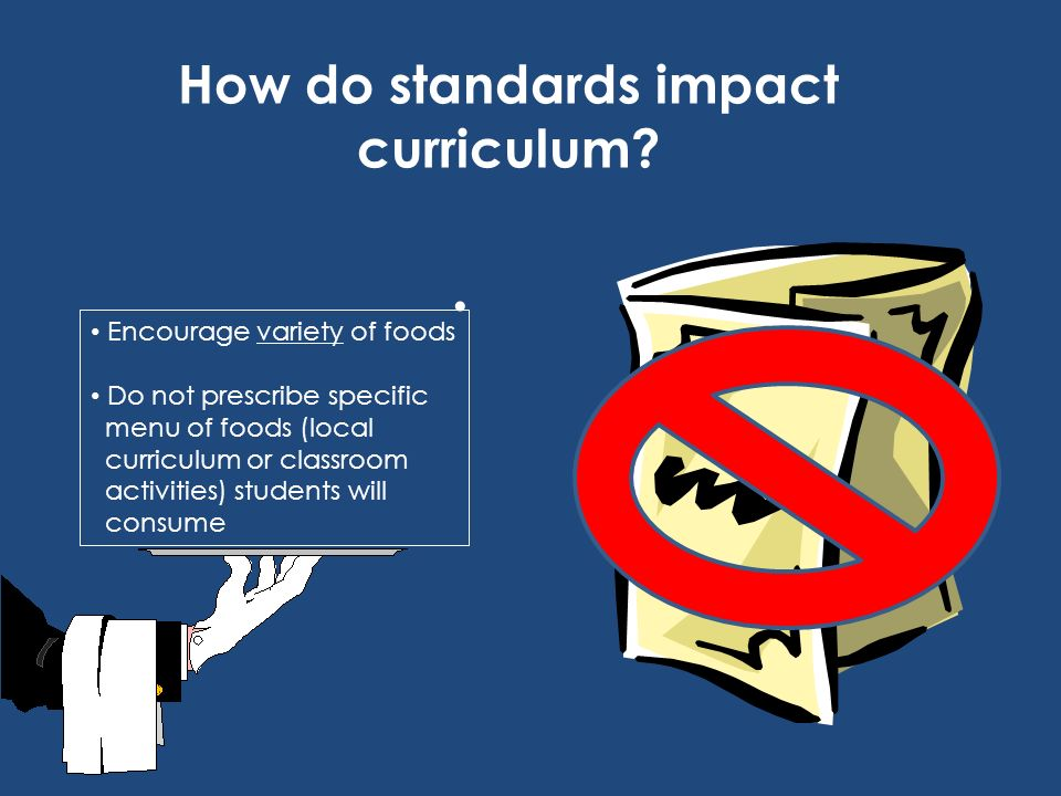 How do standards impact curriculum
