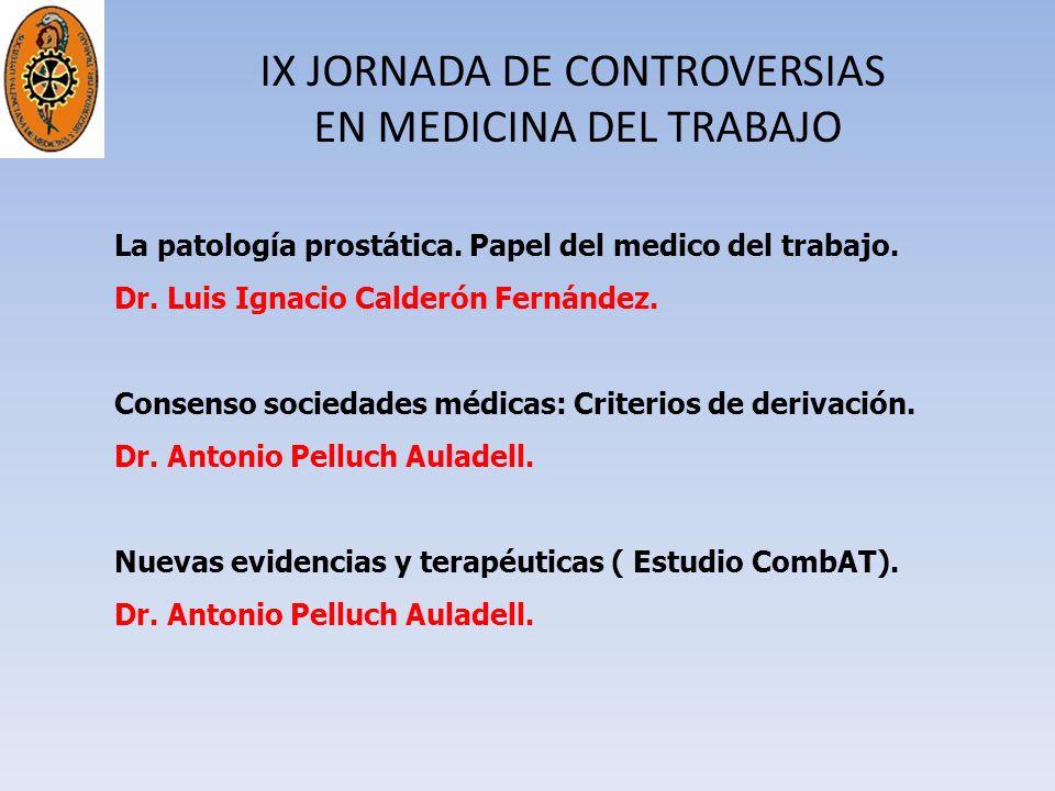 IX JORNADA DE CONTROVERSIAS EN MEDICINA DEL TRABAJO