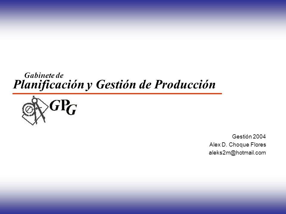 Planificación y Gestión de Producción