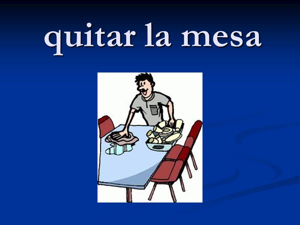 quitar la mesa