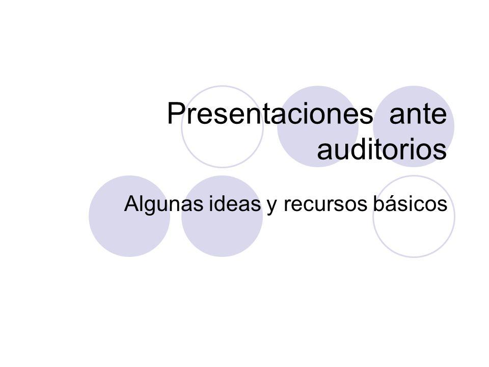 Presentaciones ante auditorios
