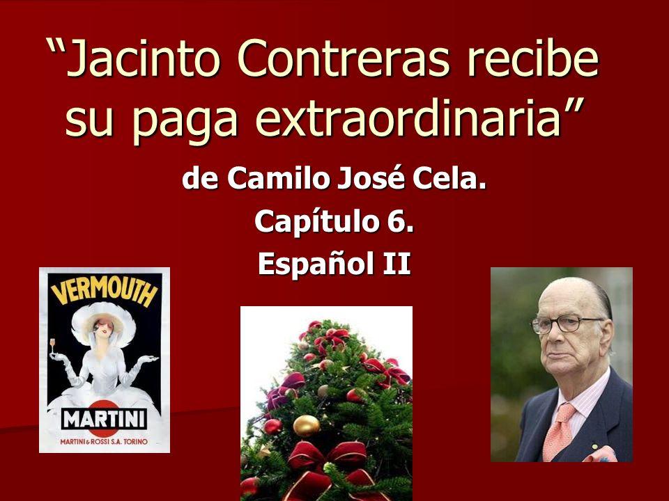 Jacinto Contreras recibe su paga extraordinaria
