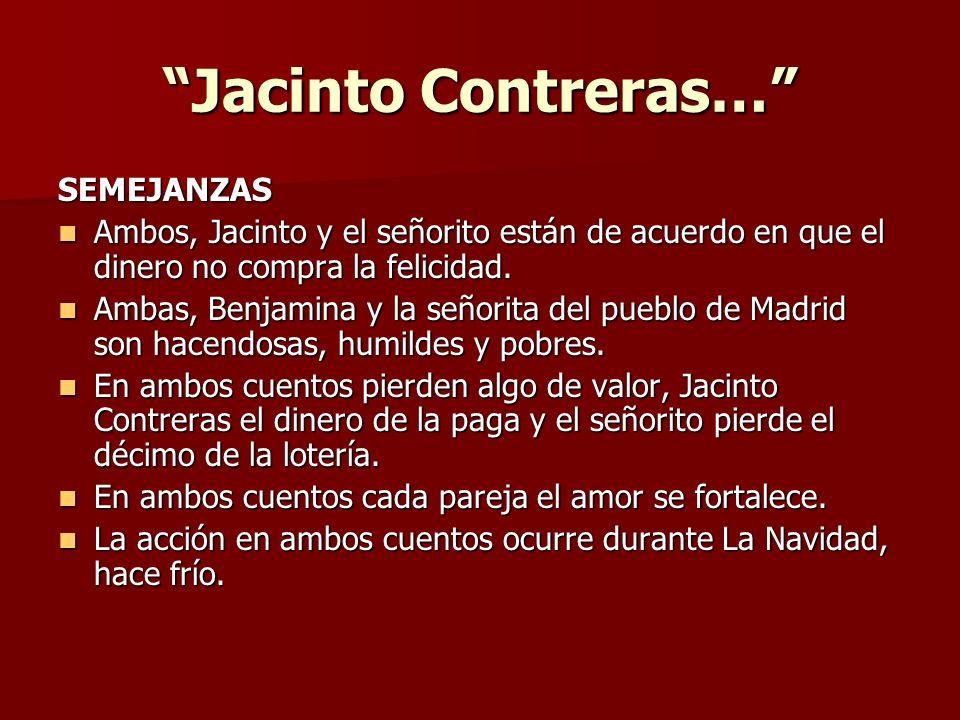 Jacinto Contreras… SEMEJANZAS