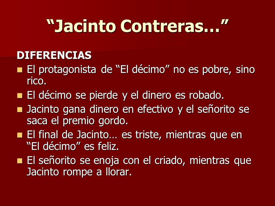 Jacinto Contreras… DIFERENCIAS