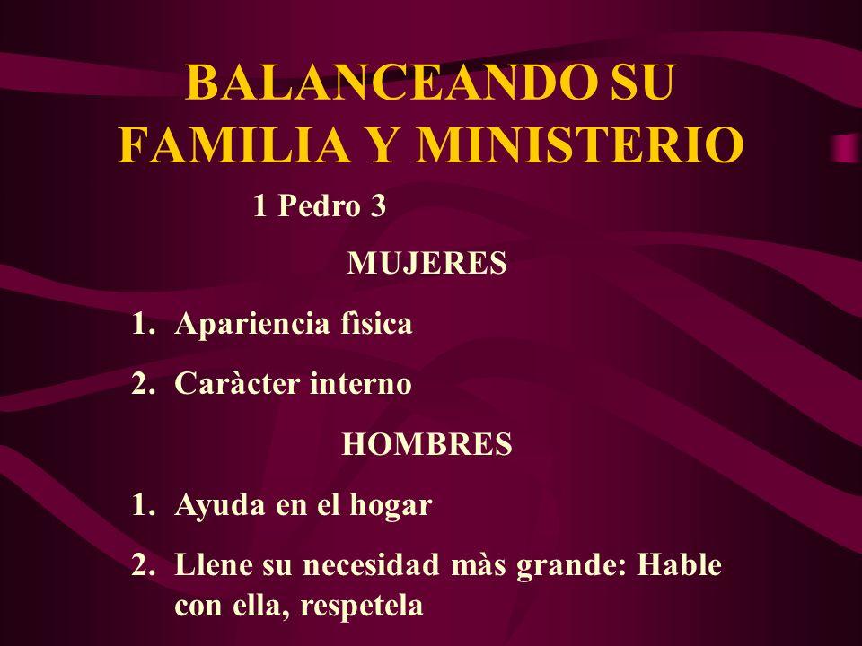 BALANCEANDO SU FAMILIA Y MINISTERIO