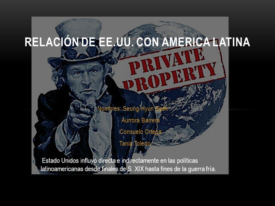 RELACIÓN DE EE.UU. CON AMERICA LATINA