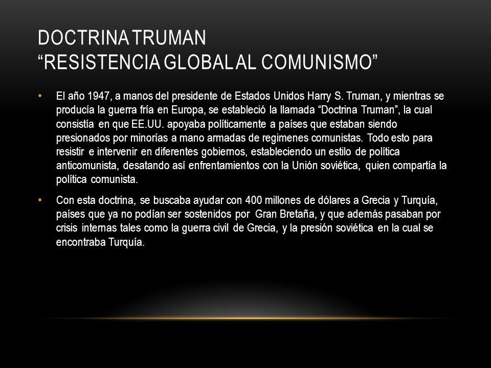 DOCTRINA TRUMAN RESISTENCIA GLOBAL AL COMUNISMO