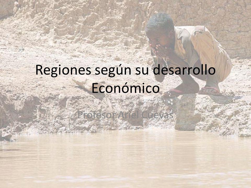 Regiones según su desarrollo Económico