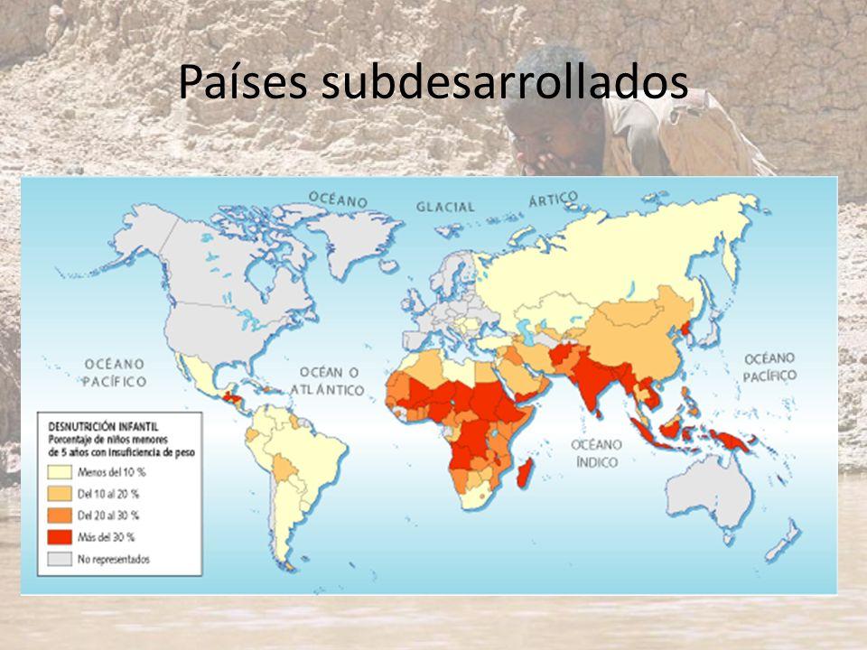 Países subdesarrollados