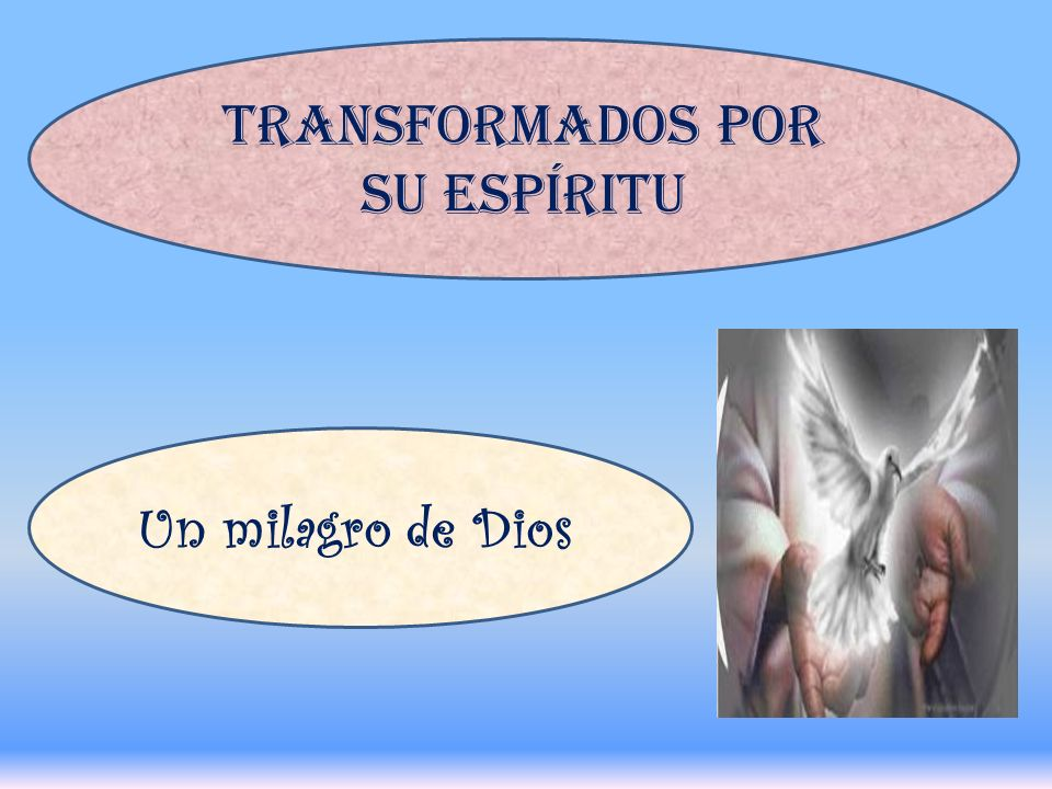 TRANSFORMADOS POR SU ESPÍRITU