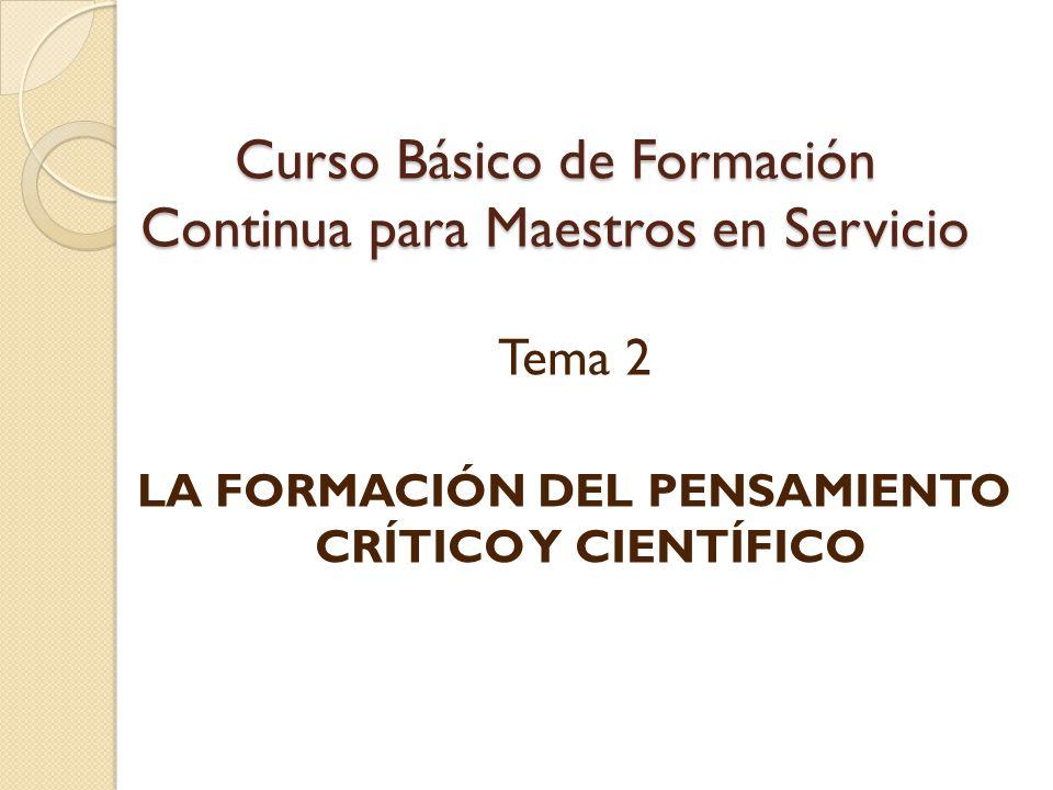Curso Básico de Formación Continua para Maestros en Servicio