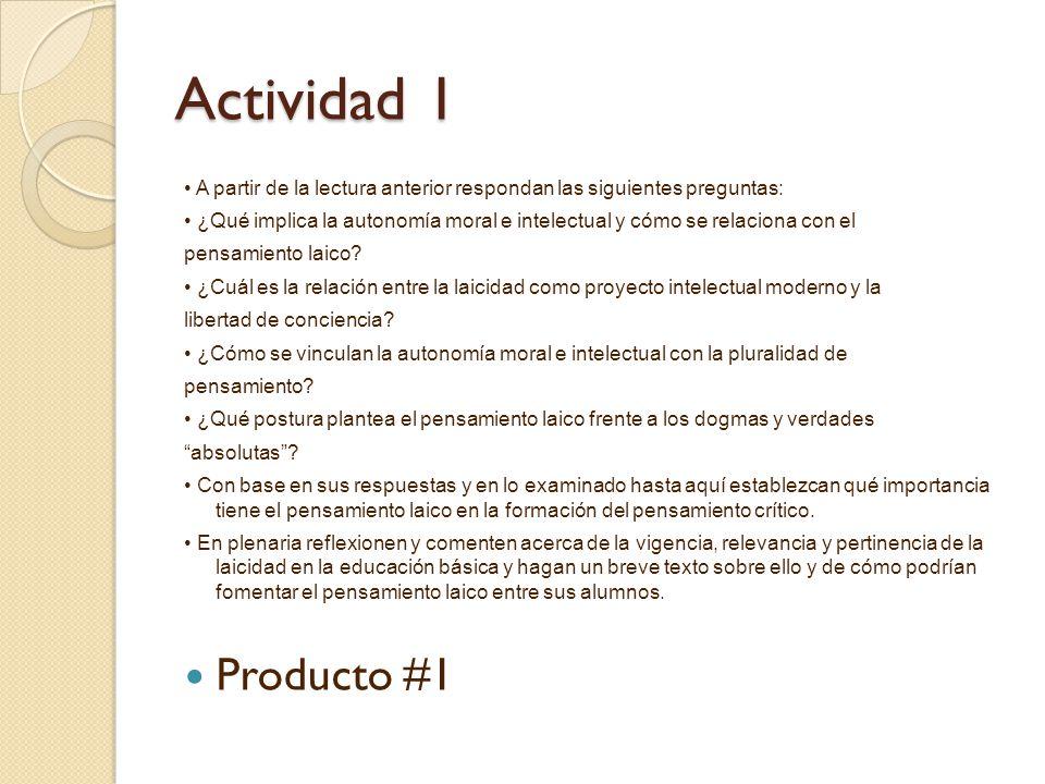 Actividad 1 • A partir de la lectura anterior respondan las siguientes preguntas: