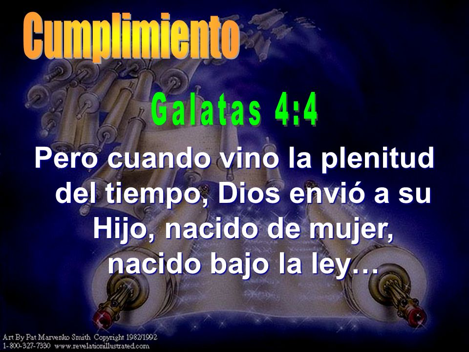 Cumplimiento Galatas 4:4.