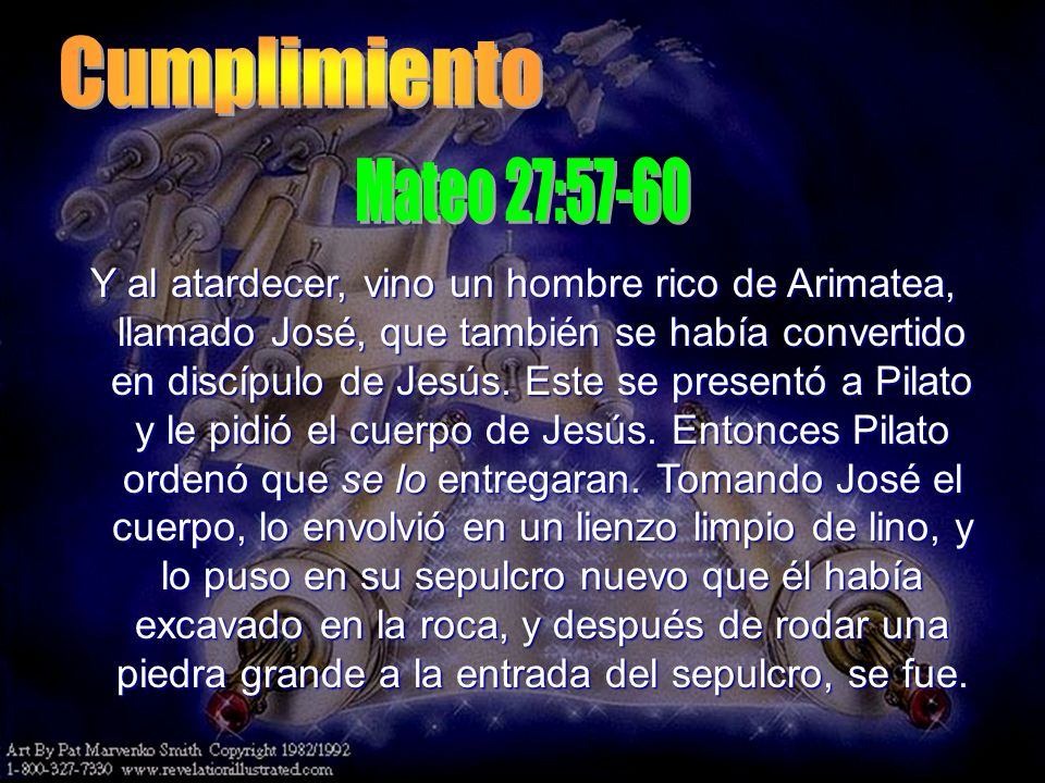 Cumplimiento Mateo 27:57-60.