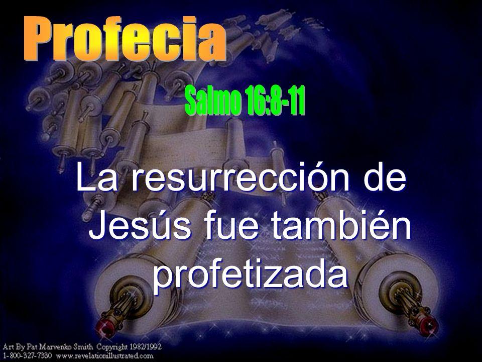 La resurrección de Jesús fue también profetizada
