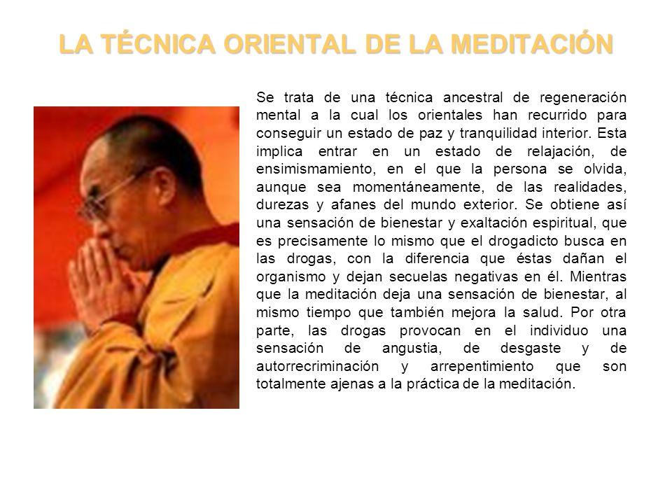 LA TÉCNICA ORIENTAL DE LA MEDITACIÓN
