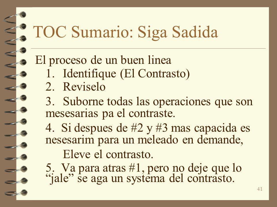 TOC Sumario: Siga Sadida