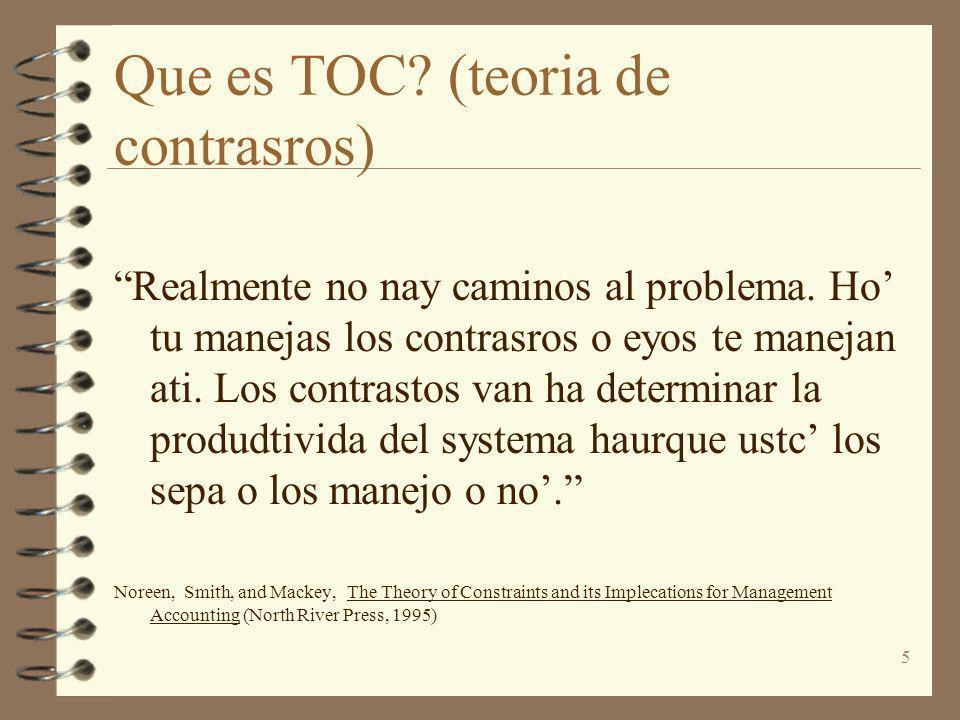 Que es TOC (teoria de contrasros)