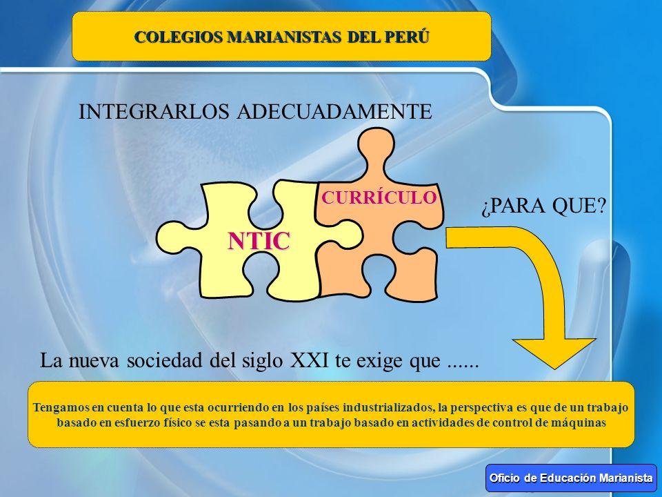 COLEGIOS MARIANISTAS DEL PERÚ Oficio de Educación Marianista