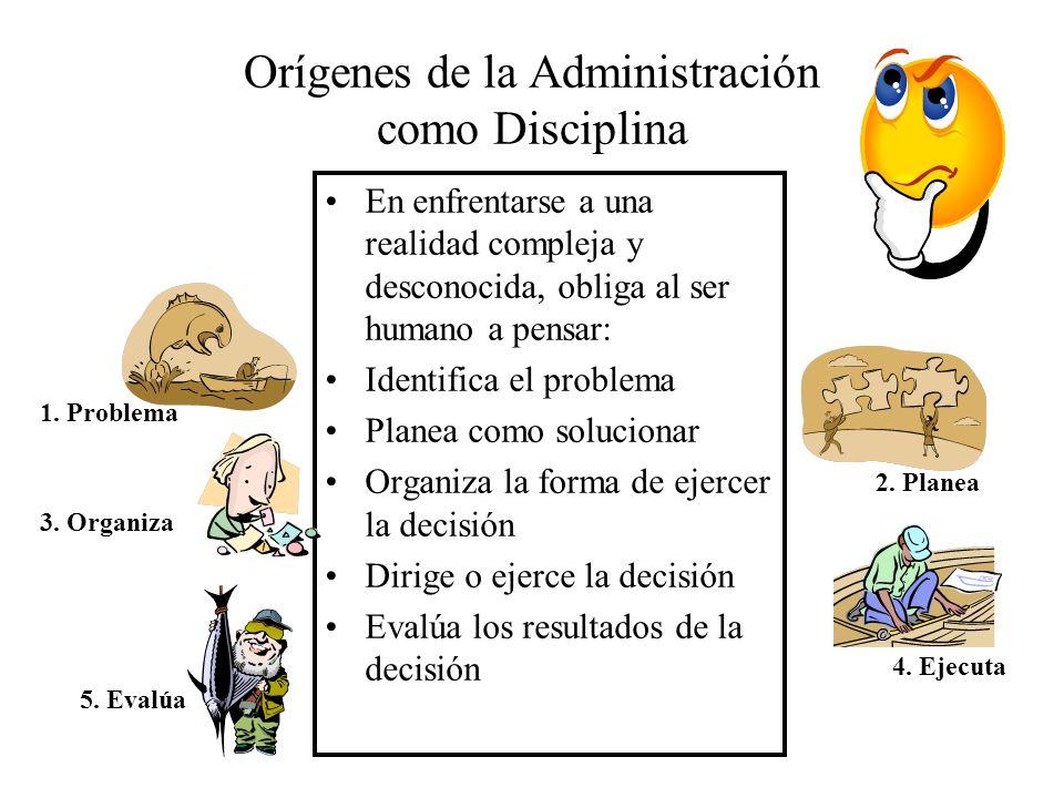 Orígenes de la Administración como Disciplina