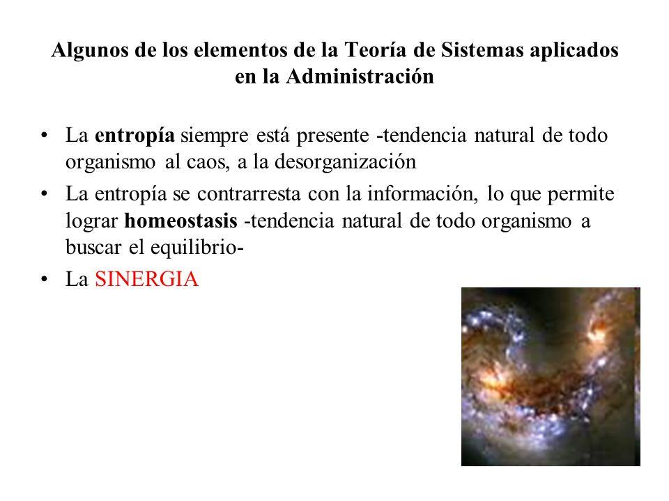 Algunos de los elementos de la Teoría de Sistemas aplicados en la Administración