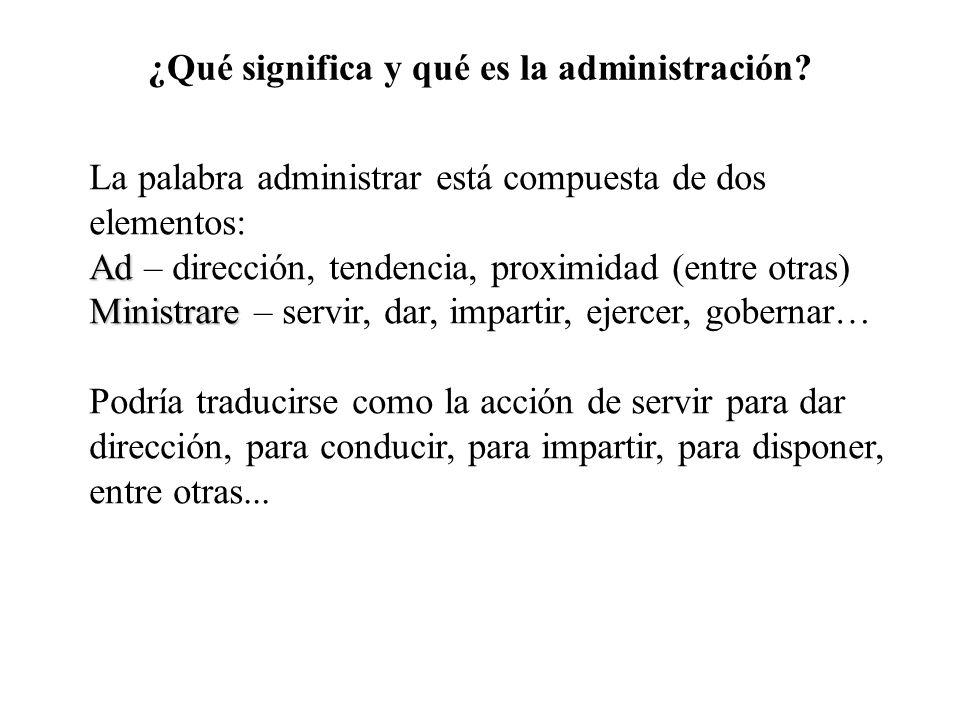¿Qué significa y qué es la administración