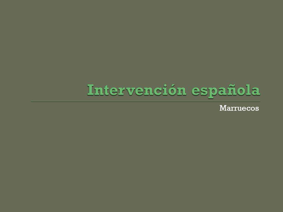 Intervención española
