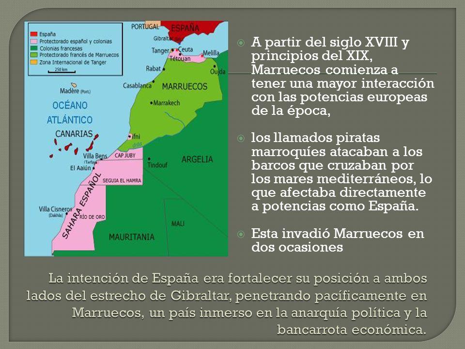 A partir del siglo XVIII y principios del XIX, Marruecos comienza a tener una mayor interacción con las potencias europeas de la época,