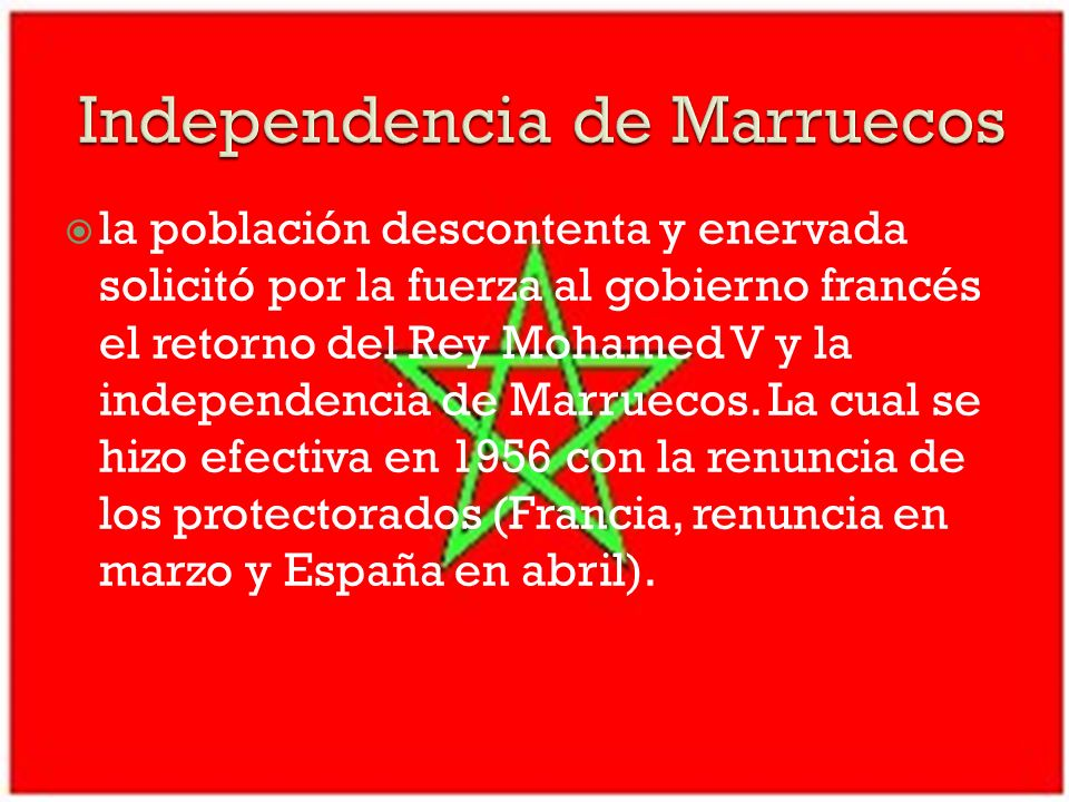 Independencia de Marruecos