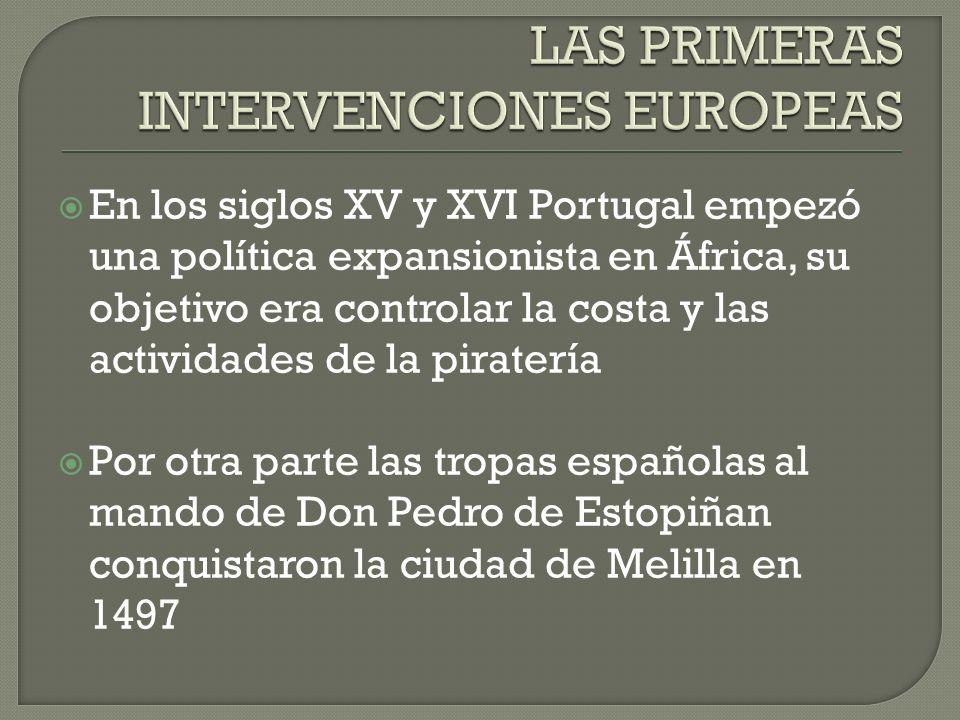 LAS PRIMERAS INTERVENCIONES EUROPEAS